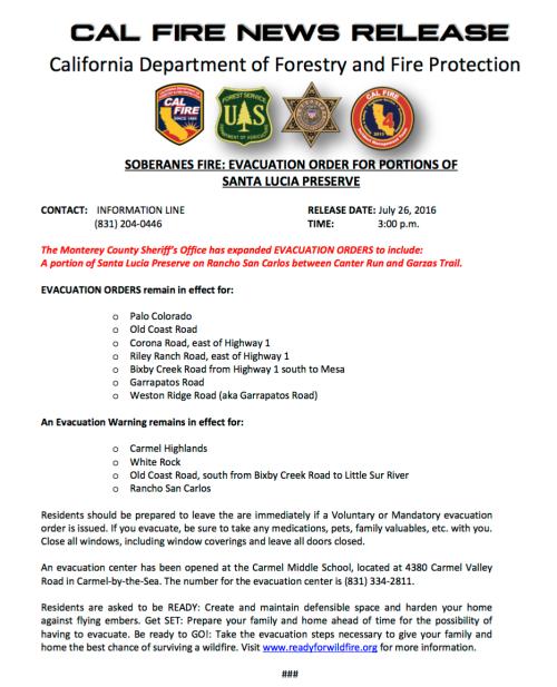 CalFire_Evac_Notice2016-07-26