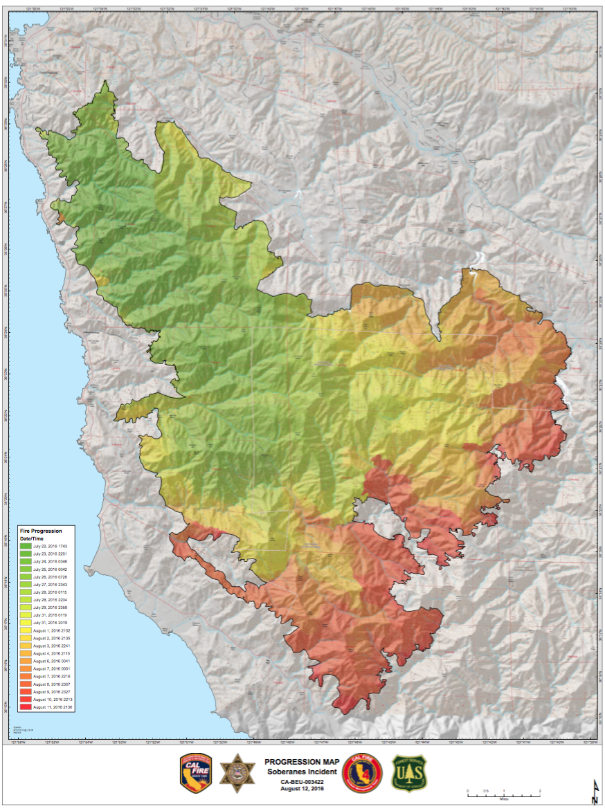 Cal Fire Map Today.Today S Fire Progression Map Pdf S Of Today S Cal Fire Maps Big