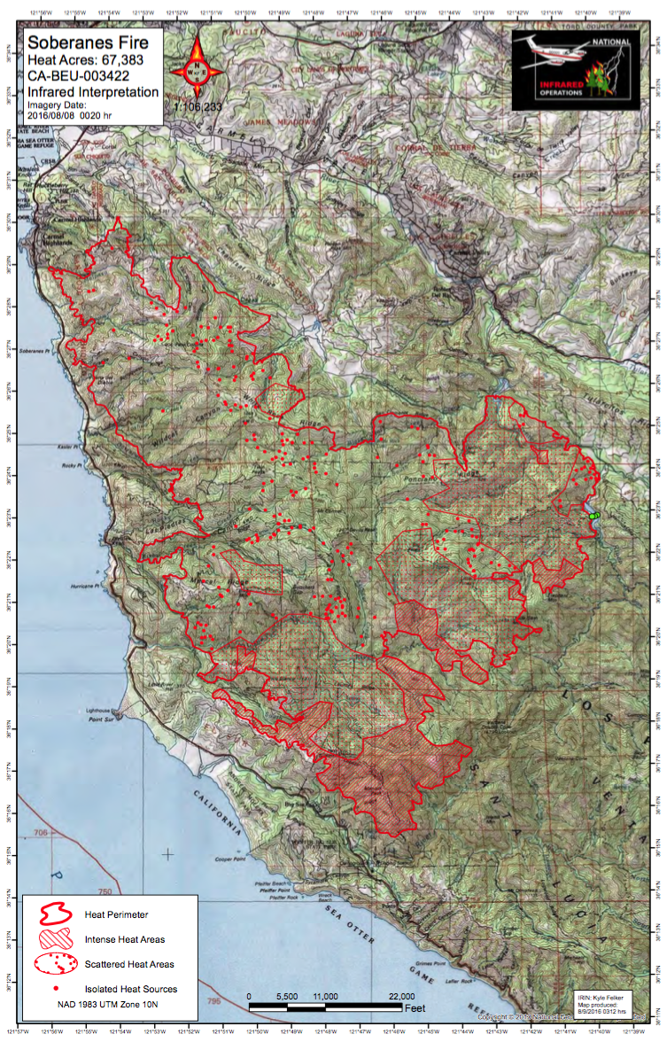 Soberanes fire maps for 8916 big sur california todays maps in pdf format gumiabroncs Image collections