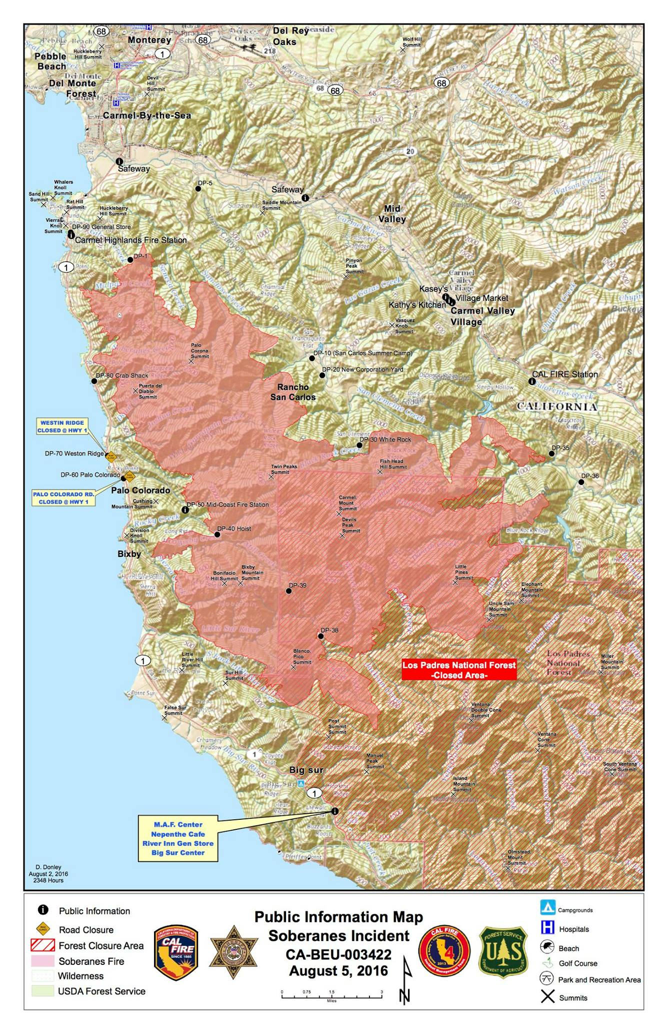 Soberanes Pio Map Map Pdf S Big Sur California