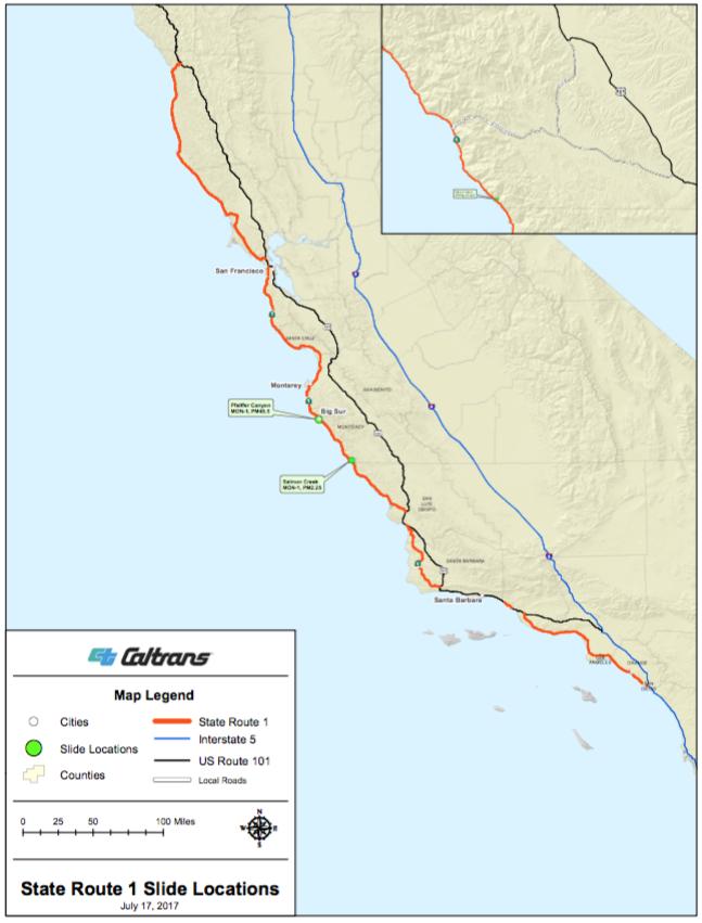 Big Sur California The Big Sur Blog Page - Map of us route 1